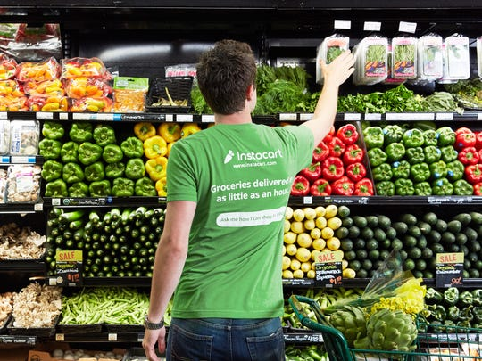 Instacart said it has seen unprecedented demand for its grocery delivery service since the outset of the COVID-19 pandemic.