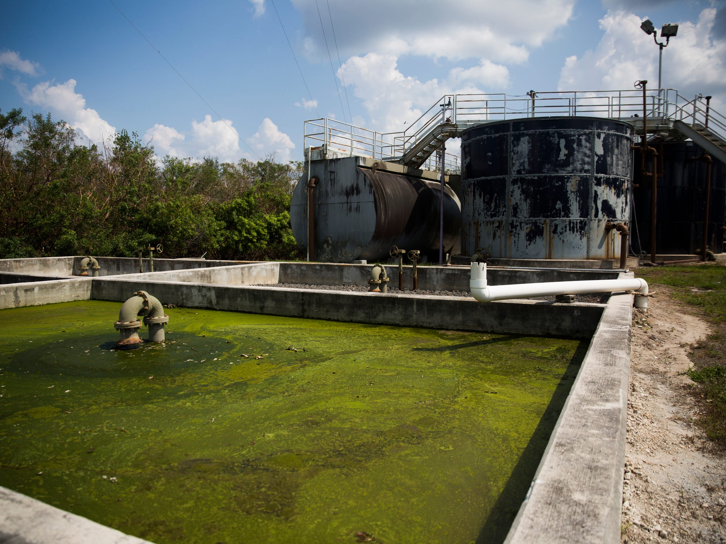 The sewage plant in Everglades City on Thursday, Sept. 21, 2017.