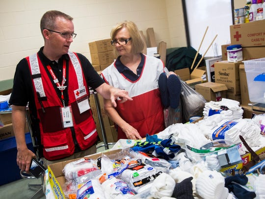 Bryan Hartmann, a Red Cross shelter manager, discusses