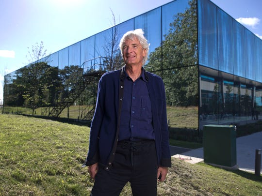 Dyson vacuum cleaner company founder and chief engineer James Dyson at the company's headquarters in Malmesbury, Wiltshire, in the United Kingdom.