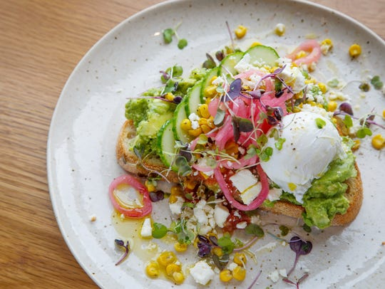 The Avocado Toast from St. Kilda in Des Moines Wednesday,