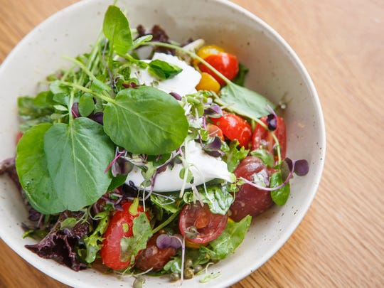The Tomato and Burrata Salad from St. Kilda in Des