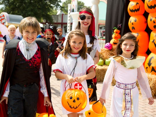 Costumed kids can walk the Trick-Or-Treat Trail at Six Flags Great Adventure in Jackson.