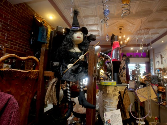 One of the witches that Sheryl Glickman, owner of Notions-n-Potions in Beacon, has in her store. She is chairwoman of the Psychic Fair and kids' Halloween Parade. She got married on Halloween in Salem, Massachusetts.
