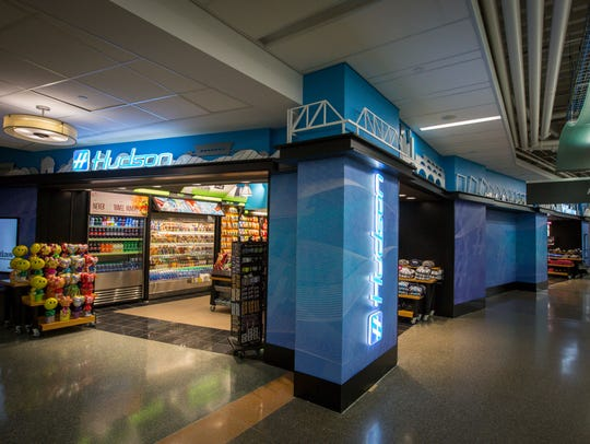 Hudson news and grab and go food near the terminal