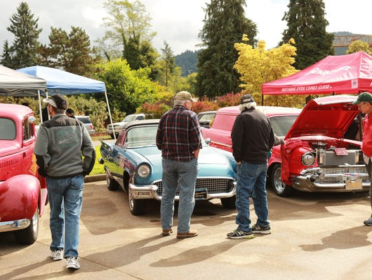 Classic cars at the Lyons Fire Department annual Chili