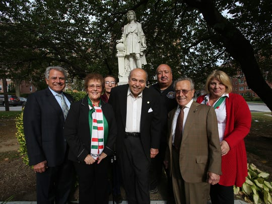 From left, Members of Sons of Italy lodge Antonio Amaeo,