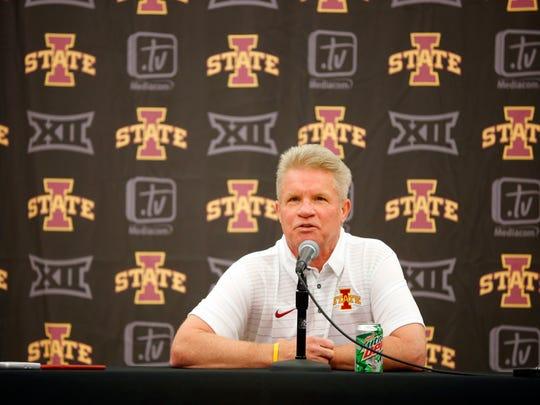 Iowa State Women's Basketball Coach Bill Fennelly speaks