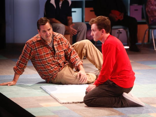 Nick LaMedica, right, plays Christopher and Jimmy Kieffer