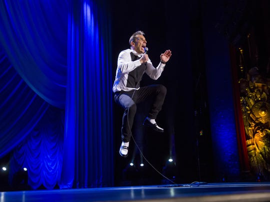 """In a day and age when people are so distracted by cellphones, you gotta do something other than just talking,"" Sebastian Maniscalco says of physical humor."