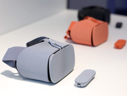 Google Daydream View VR headsets at the Google pop-up