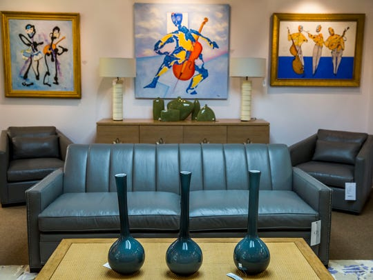 Furniture and Art pairings in the new Clive Daniel