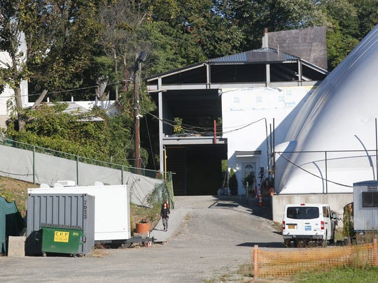 A building next to the domed tennis courts designed by former Mayor Ernie Davis, according to claims by Councilman Andre Wallace that would have housed office space and facilities to service the tennis court center on Oct. 20, 2017.  Currently the restrooms are in a portable structure on the site of Memorial Field.