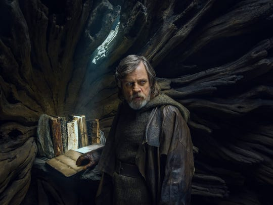 Luke Skywalker (Mark Hamill) is in self-imposed exile