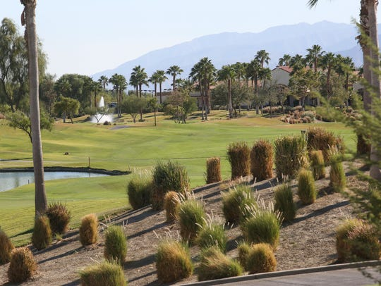 The golf course at the Sun City Shadow Hills development