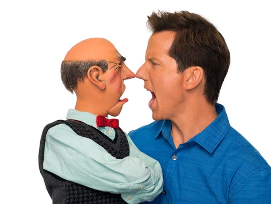 Jeff Dunham with Walter.