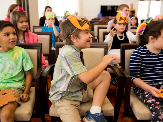 First graders at Sabal Palm Elementary engage in a