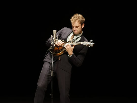 Mandolin musician Chris Thile was expressive during