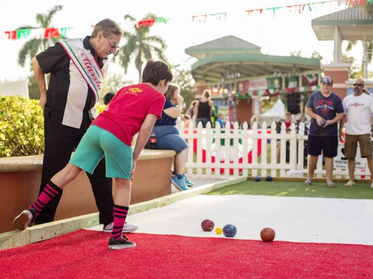 Bocce ball is always a favorite at Feast of Little