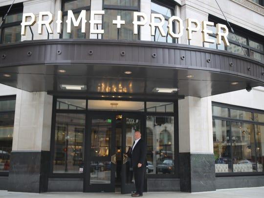 Prime + Proper Managing Director Curtis Nordeen holds