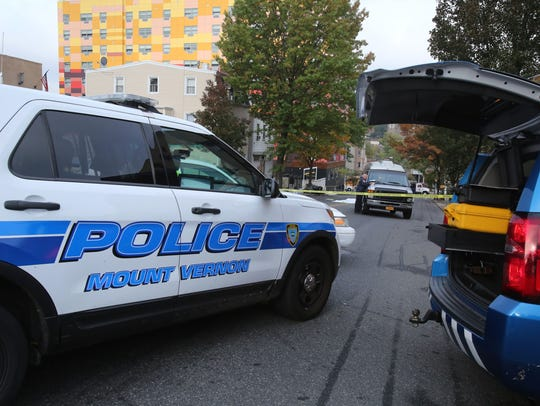 Police at the scene of an accident where a pedestrian