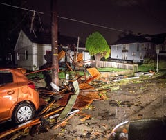 Areas around Muncie suffer heavy storm damage