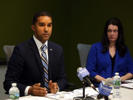 Mount Vernon Mayor Richard Thomas and spokeswoman Maria