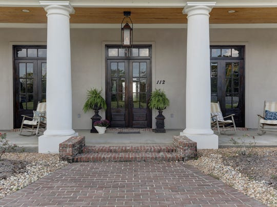 The home has wonderful curb appeal and style.