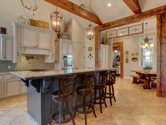 The kitchen is large and open with all modern amenities.