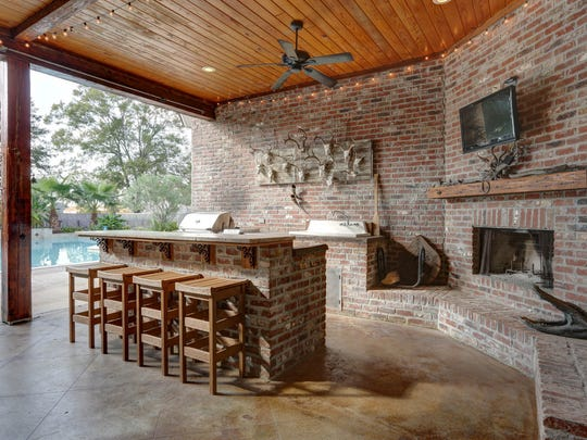 There is plenty of outdoor living and entertaining space.