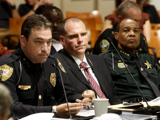 Chief of TPD Michael DeLeo (left to right) State Attorney