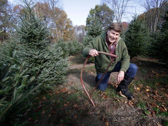 Tremper Saltsman, owner of the Saltsman Christmas Tree Farm in Rhinebeck on  Nov. 9, 2017.
