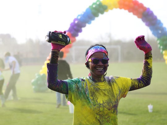 Participants in the Caldwell Classic 5k and Color Run