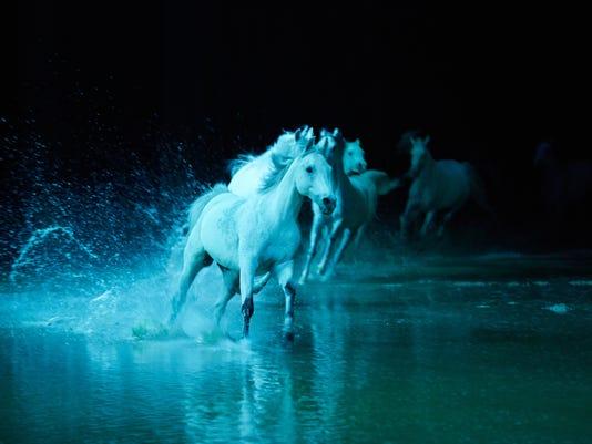 Cavalias Odysseo Includes An Artificial Lake For Its Purebred Show Horses To Splash Through Photo Cavalia