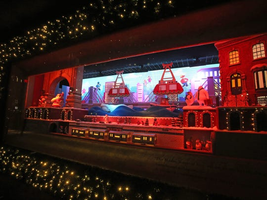 Macy's Herald Square unveils their holiday window displayed