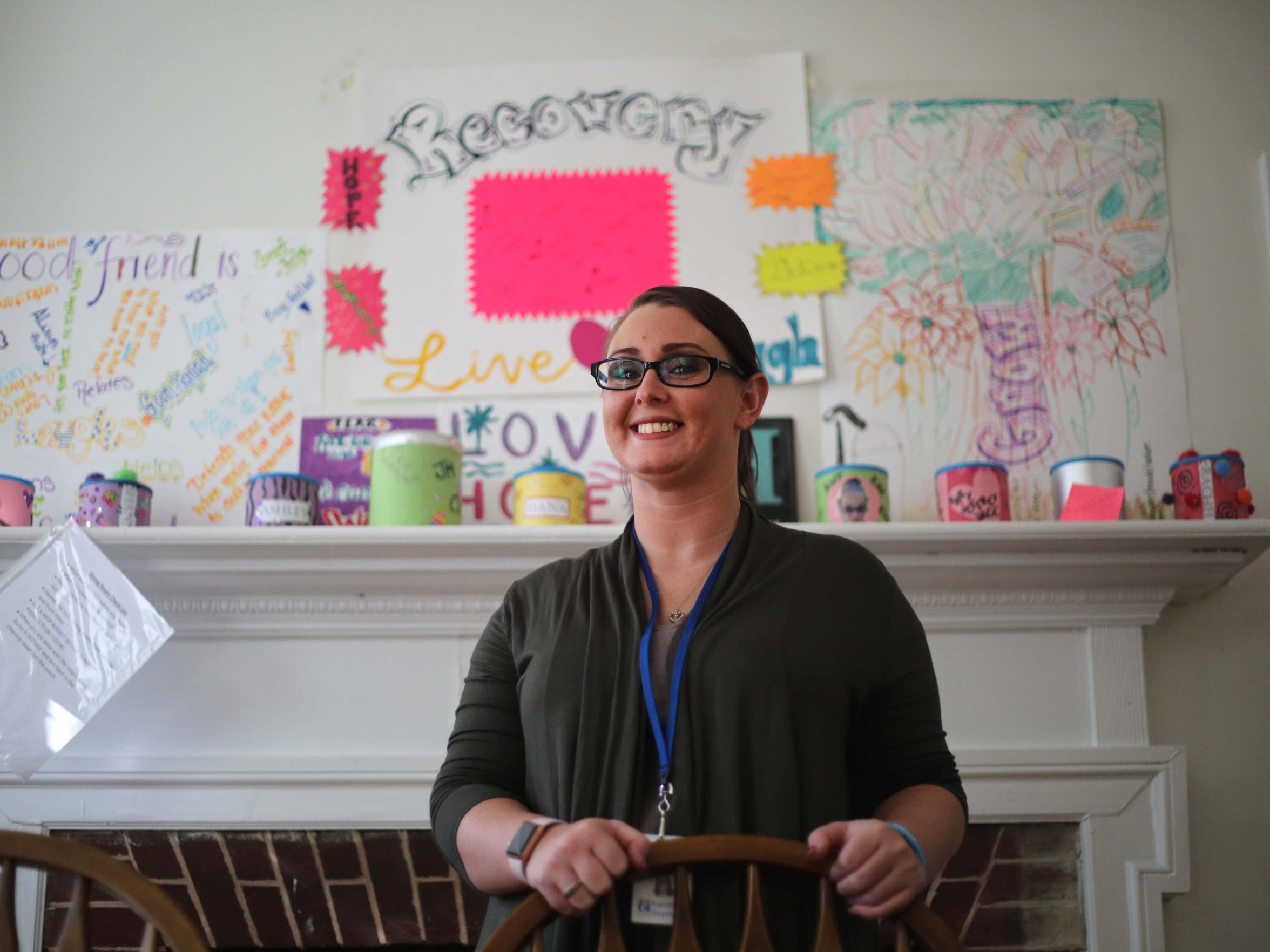 Kandice Seymore, 26, house manager of Connections Women's Sober Living House, helps women get back on their feet after battling with addiction.