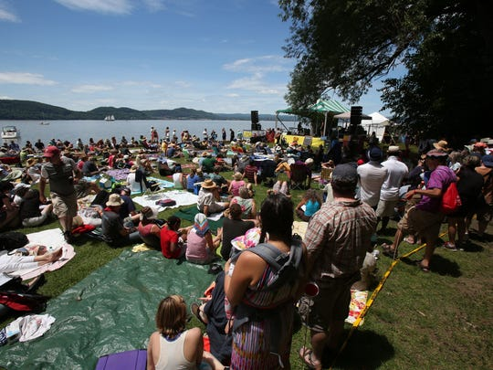 Clearwater's Great Hudson River Revival at Croton Point Park in Westchester County.