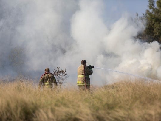 Corpus Christi Fire Department works to extinguish