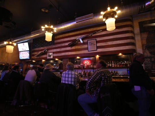 A view of the bar at Eagle Saloon restaurant in Peekskill
