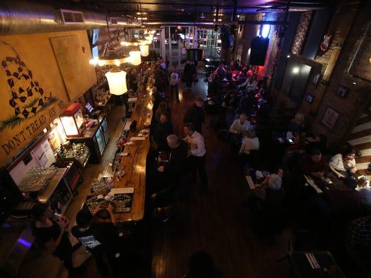 A view inside of Eagle Saloon restaurant in Peekskill