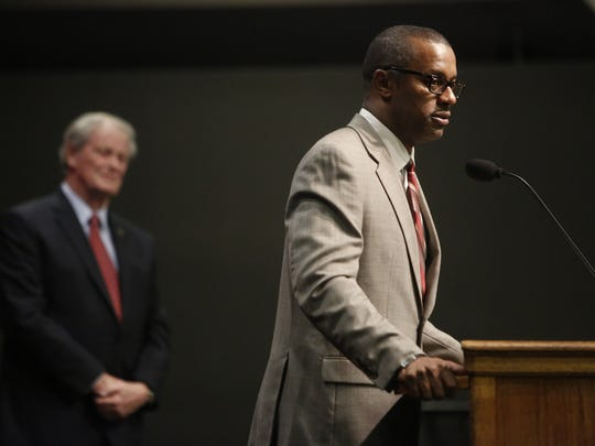 New Florida State Head Football Coach Willie Taggart speaks during the annual State of the University Address at the Turnbull Center Wednesday, Dec 6.