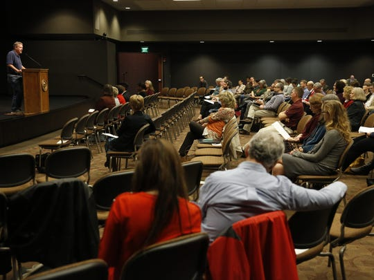 The Dec. 6 meeting of the FSU Faculty Senate at the Turnbull Center.