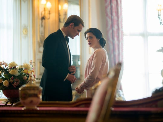 Matt Smith as Prince Philip and Claire Foy as Elizabeth