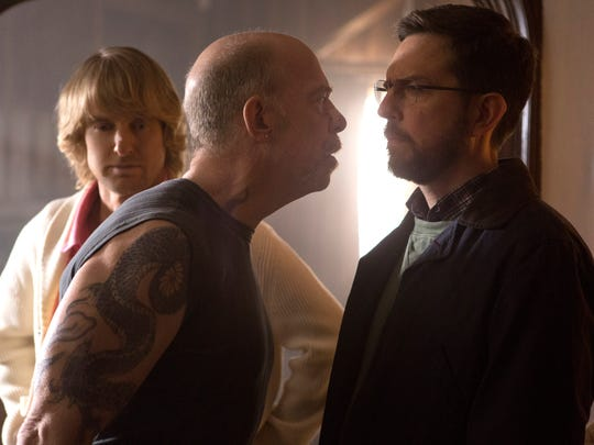 """Owen Wilson, J.K. Simmons and Ed Helms in """"Father Figures."""""""