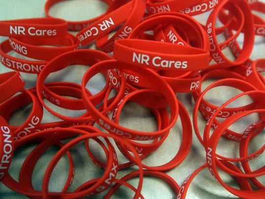 Bracelets being sold as part of a North Rockland school