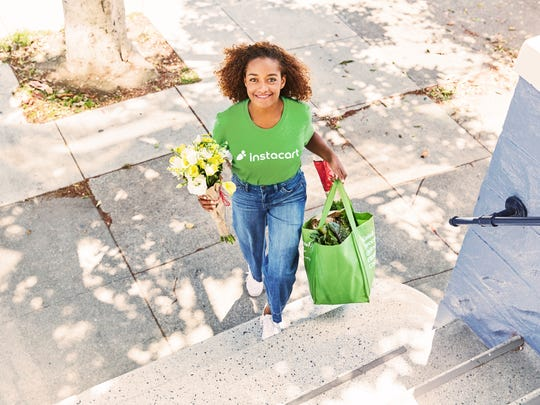 A press photo of an Instacart shopper.