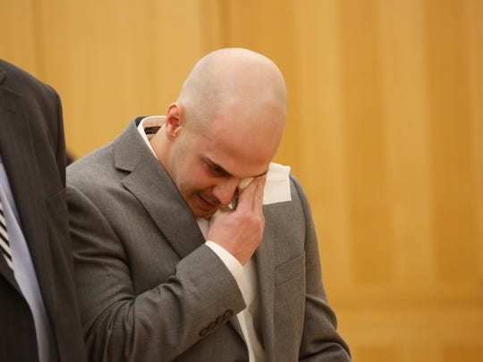 Harry Kyreakedes, a New Rochelle police officer who killed his close friend in a DWI accident, was sentenced at the Westchester County Courthouse in White Plains on Jan. 5, 2018.