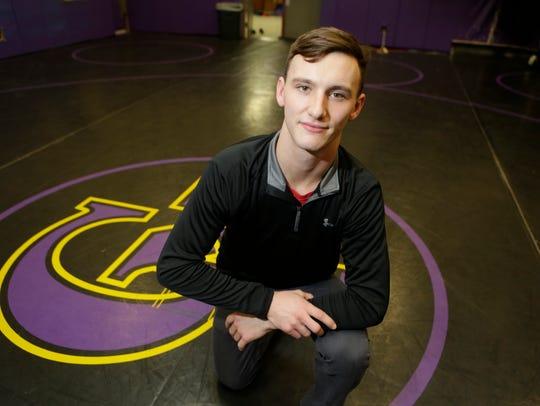 Clarkstown High School North's Ryan Cox, the wrestling