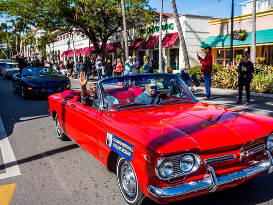 The Dr. Martin Luther King Jr. parade makes its way