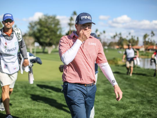 Martin Piller on 18 tee at La Quinta Country Club during